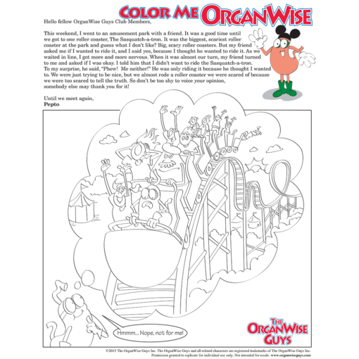 Dealing With Peer Pressure Among Kids Coloring Page - OrganWise Guys