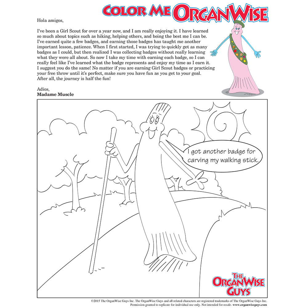 Girl Scout Lessons Coloring Page - OrganWise Guys