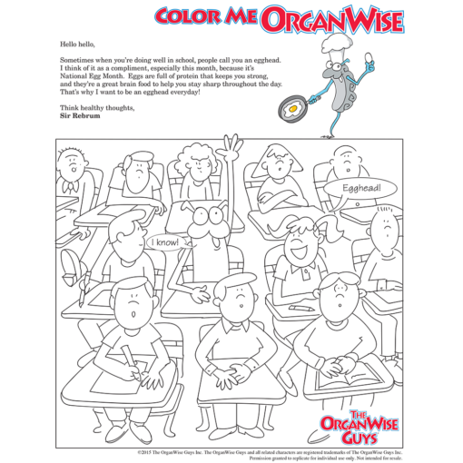 National Egg Month Coloring Page - OrganWise Guys