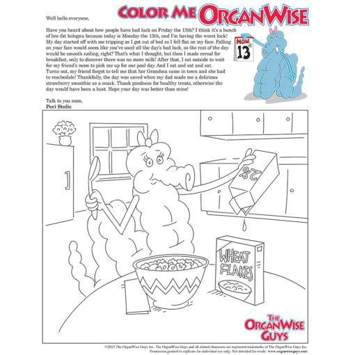 Rebound From an Unlucky Day Coloring Page - OrganWise Guys