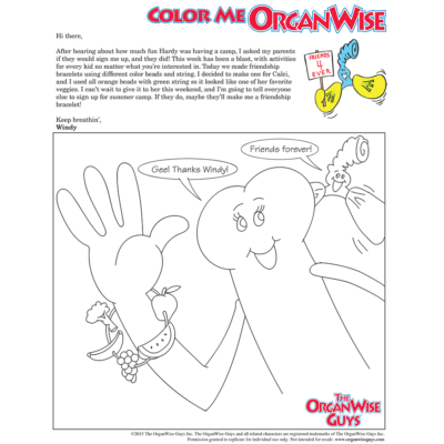 Summertime Friends are Important Coloring Page - OrganWise Guys