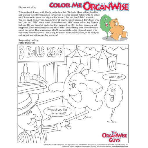 Teach Kids About Anxiety Coloring Page - OrganWise Guys