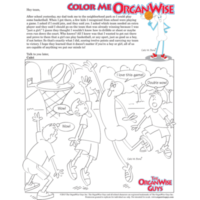 Teach Kids Determination Coloring Page - OrganWise Guys