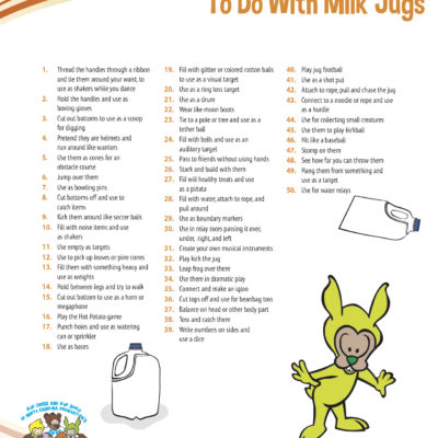 Be Active Kids - 50 Things Milk Jug