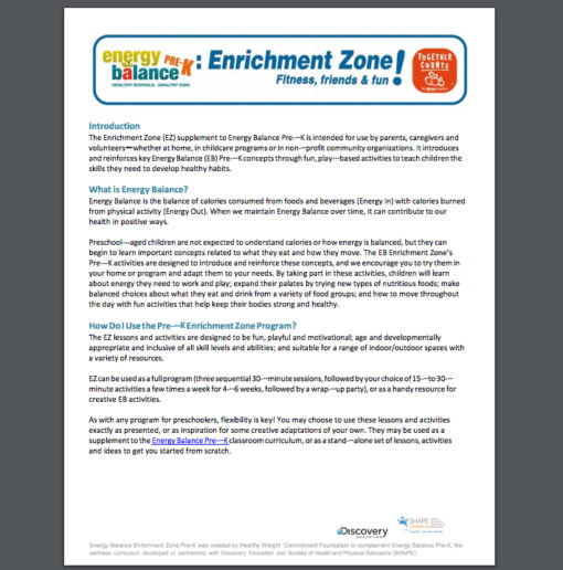 Together Counts – Enrichment Zone Pre-K Free!
